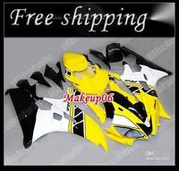 Yellow white ABS Fairings for yamaha YZFR6 2006 2007 YZF R6 YZF-R6 2007-2006 YZFR6 full fairing kit bodywork Customized fairing