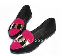 Europe and the United States pointed hit color shoes female Asaguchi sequined shoes leisure shoes