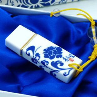 Blue and white porcelain fashion ceramic usb flash drive gift logo pendrive 4gb 8gb 16gb 32gb 64gb flash drive free shipping