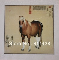 Free shipping 1pc Chinese traditional painting, 100% hand painted traditional Chinese painin master reproduction 50*50 cm