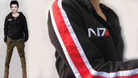 Hallowmas Gift Mass effect John Shepard N7 Cosplay Jacket Costume Coat Hoodie