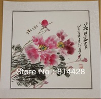 Free shipping 1pc Chinese traditional painting Tree peony, 100% hand painted traditional Chinese painin master reproduction