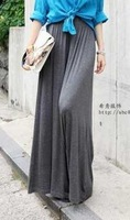 Wide leg long design culottes fashion vintage fashion pants casual pants summer thin