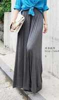 Wide leg long design culottes fashion vintage fashion pants casual pants summer thin