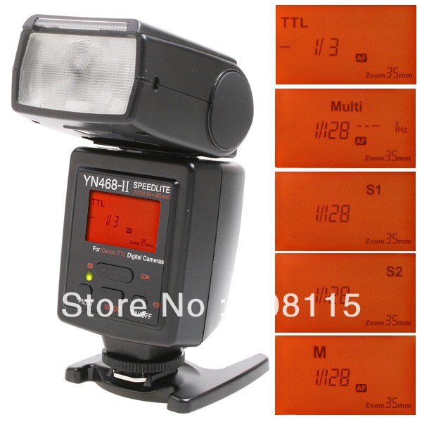 Flash Speedlight Yongnuo YN-468 II for Canon cameras US free shipping DB0171(China (Mainland))