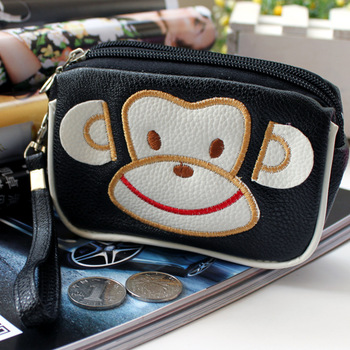 Limited edition hot-selling double zipper soft PU small multifunctional bag coin purse key wallet mobile phone bag female