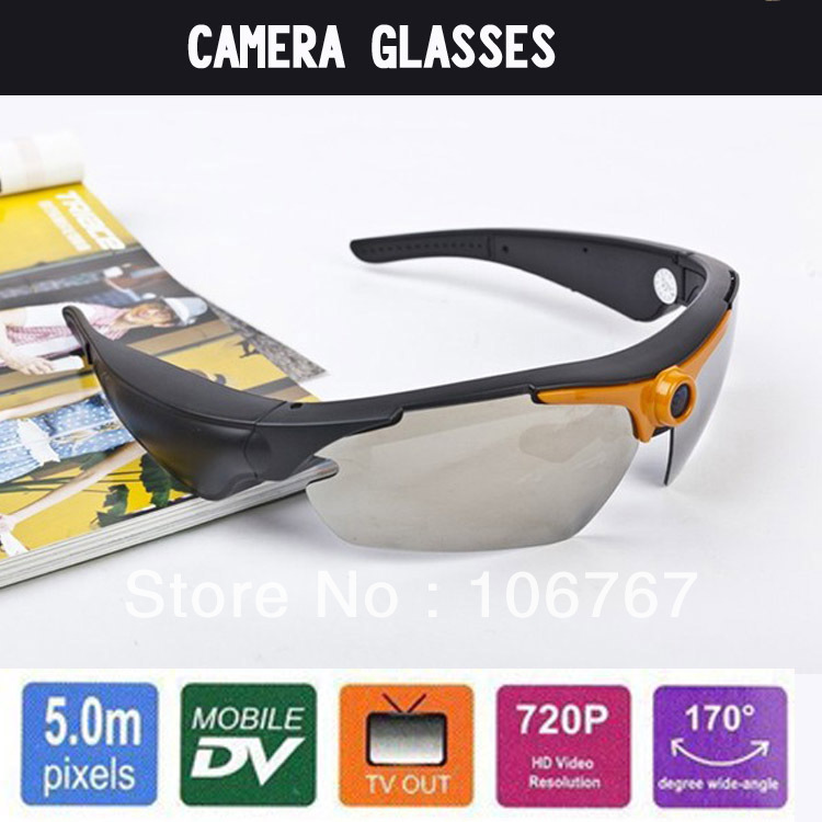 2013 high definition video camera lens eyeglass camcorder 1280*720p hd sport glasses(China (Mainland))