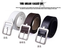 The new fashion contracted pressure word pin buckle belts run quantity of belt PU belt bt12