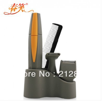 Free shipping Nose hair trimmer + nasal wool implement + nose hair cut + trim quality goods + manual + can be washed(China (Mainland))