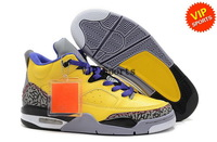 Wholesale Hot Sale Retro 3 III Men's Sports Basketball Shoes (yellow / cenment grey / black)