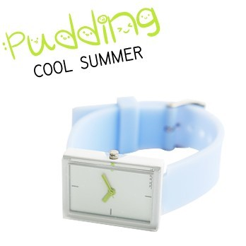 Fashion square dial brief jelly casual sports ice cream candy color female watch
