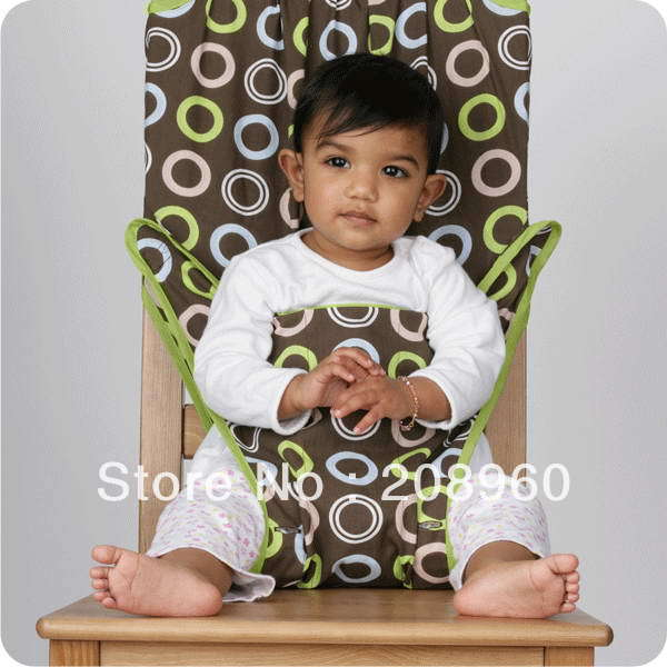 Baby High Chair Pad Portable Baby Seat Safety Harness Thin Section Free Shipping(China (Mainland))