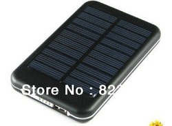 Wholesale 5000MAh solar portable charger power bank for ipad iphone smart phone PDA , Solar Charger for Samsung Galaxy S3 i9300(China (Mainland))