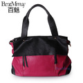 Women's handbag 2013 women's fashion handbag candy color block women's cowhide bag vintage one shoulder cross-body bag