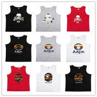 High Quality Bape Hip Hop Tank Top Summer Cotton Cool Upper Garment Fashion Men Outside Singlet Wholesale Sportwear