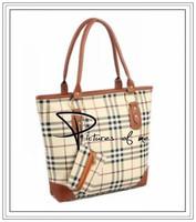 Fashion Brown Brands women leather plaid print Handbags shoulder bags bolsas