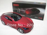 Wholesale - DHL 2013 New 50pcs/lot Maserati Mini Music Car Speaker with FM radio mini speaker Support TF+U dis speaker