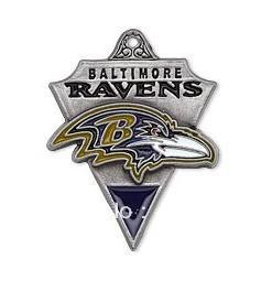 free shipping 15pcs a lot enamel antique silver plated single-sided Baltimore Ravens charms