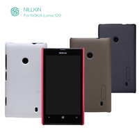 Original Nillkin Brand Case For Nokia Lumia 520 Case Super Scrub Shield +Screen Protector +Retail Package