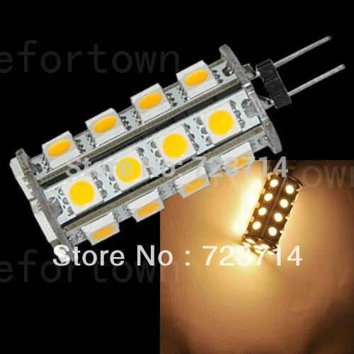 20pcs Warm White G4 30 5050 SMD LED Car Light Landscape Cabinet Marine Bulb Lamp best price shipping free(China (Mainland))