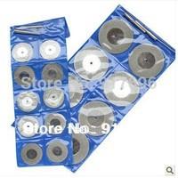 "New premium 10pcs set 1"" Diamond coated Mini cuttting FLAT disc wheel blade for marble granite tile and ceramic with mandrel"