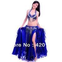 Belly Dance Costume sexy 3pcs Set Bra&Belt&Skirt 34B/C 36B/C 38B/C 40B/C show #8162