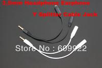 3.5mm earphone Y splitter Adaptor Cable 1 male 2 female 30pcs/lot free shipping