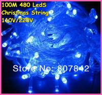 110v/220v 100m/480 leds twinkle light,blue led string lights,party/wedding/holiday/christmas lighting decoration