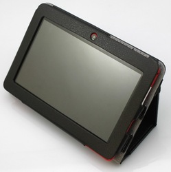 Protective Leather Case for 7 inch A13 Tablet PC/ PDA Black free shipping with 5 colors free shipping(China (Mainland))