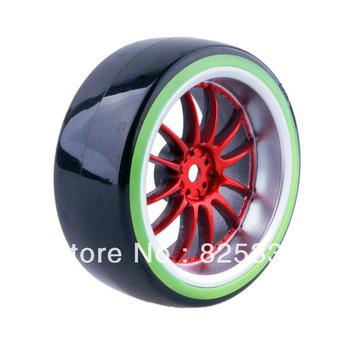 4pcs RC Hard Tires Tyre Wheel Rim Fit HSP HPI 1:10 On-Road Drift Car 9048
