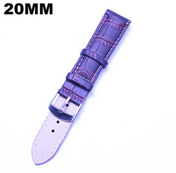 Wholesale 50pcs / lots High quality 20MM PU leather Watch band fashion watch strap free shipping-051502(China (Mainland))