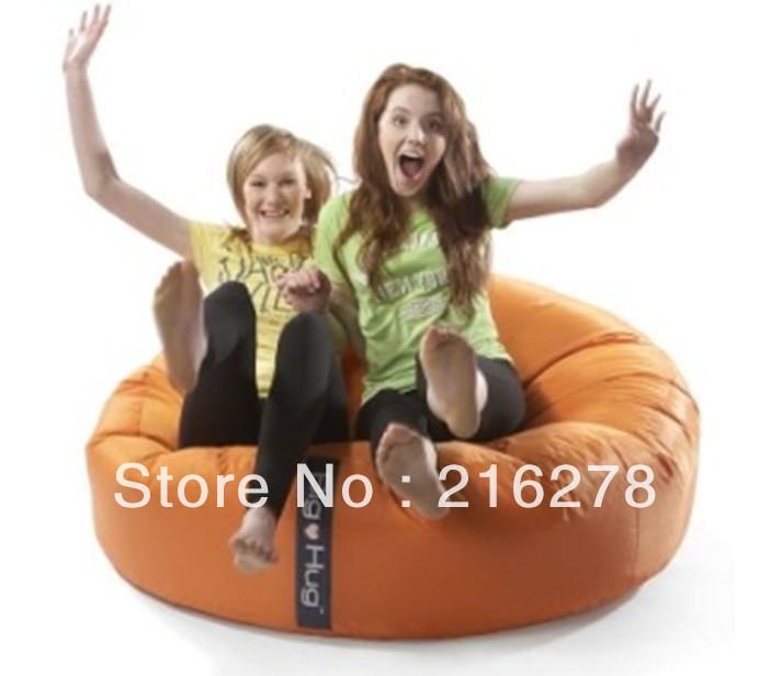 DHL free shipping Orange large island Design hug bean bag chair, 2 people seat beanbag seat, Large space chair(China (Mainland))
