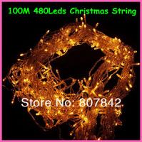 110v/220v 100M 480leds yellow  fairy  led string light,party/wedding/holiday/led christmas tree decoration light