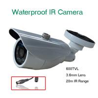 600TVL CCTV CCD Camera Waterproof Day&Night 8-20mm Lens(WSK-WDR07C)