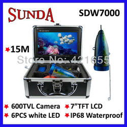 "7"" Color LCD HD Underwater Video Camera System 600TV Lines Fishing Fish Finder free shipping by DHL(China (Mainland))"
