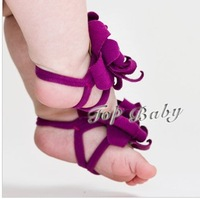 CL0054 FreeShipping Fashion Cute Infant Baby Girl Boy 5pairs Barefoot Sandal Foot Flower Shape Socks Shoes, 10 Colors,Free Size