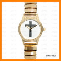 Free Shipping  2013 New  Fashion Gold Cross Watch Wholesale  Gold  Plate Watch  ZTWH-3109