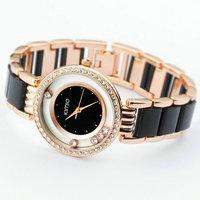 Fashion ceramic belt personal rhinestone women's watch female fashion table