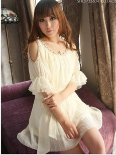 dresses new fashion 2013 1336 strapless beading short-sleeve h305-1 one-piece dress(China (Mainland))