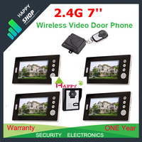 "2.4G 1 V 4 - 7"" Wireless Video Door Phone Intercom Photograph Night Vision Camera"