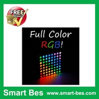 Smart Bes!Free shipping!4pcs/lot 8x8 Matrix RGB LED Common Anode Diffused Full Colours
