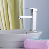 Single copper basin cold and hot water faucet bathroom wash basin wash basin hot and cold (JP)