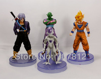 New PVC  5.5CH Dragonball  Action Figures Goku/Trunks/Piccolo/Freeza  Best gifts collections 4pcs/set  Free Shipping