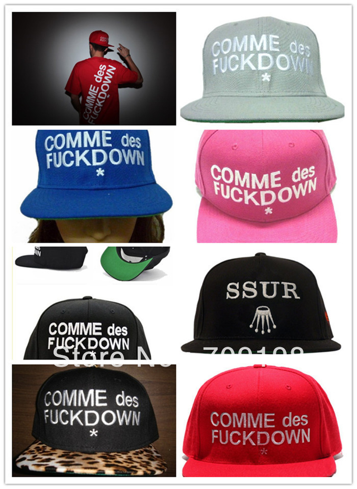 18 PCS COMME DES FUCKDOWN Hat snapbacks caps Men Spring and Summer Funny baseball Cap Discount Caps Free Shipping(China (Mainland))