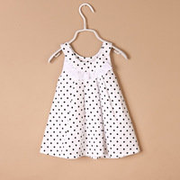 Children's clothing female child one-piece dress 2013 littlecat fashion female child dress female child dot suspender skirt