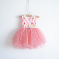 2013 children's clothing female child princess dress one-piece dress fashion female child skirt high waist V-neck layered dress