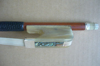 1PC Bow -Selected Pernambuco Cello Bow 4/4 ,White Ox Horn Bow Frog ,Silver Mounted