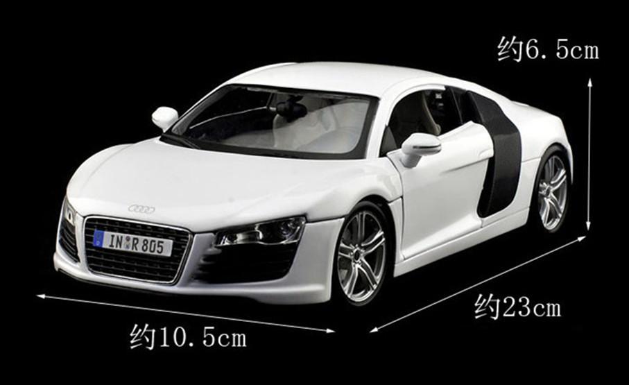 HOT ! 2013 newest ! Maisto 1: 18 AUDI R8 car model BEST !(China (Mainland))