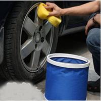 Freeshipping E auto supplies folding bucket outdoor bucket car wash bucket fishing bucket two-color
