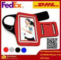 Free Shipping By FedEx (50pcs/lot) High Quality Travel Accessory Sports GYM Running Armbands For Samsung Galaxy S4 i9500 HTC One